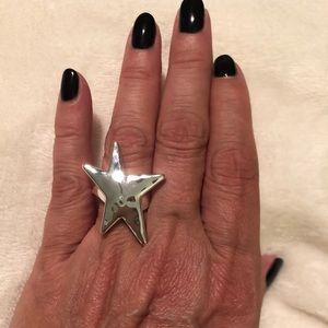 RLM White Bronze Bold Star Statement Ring